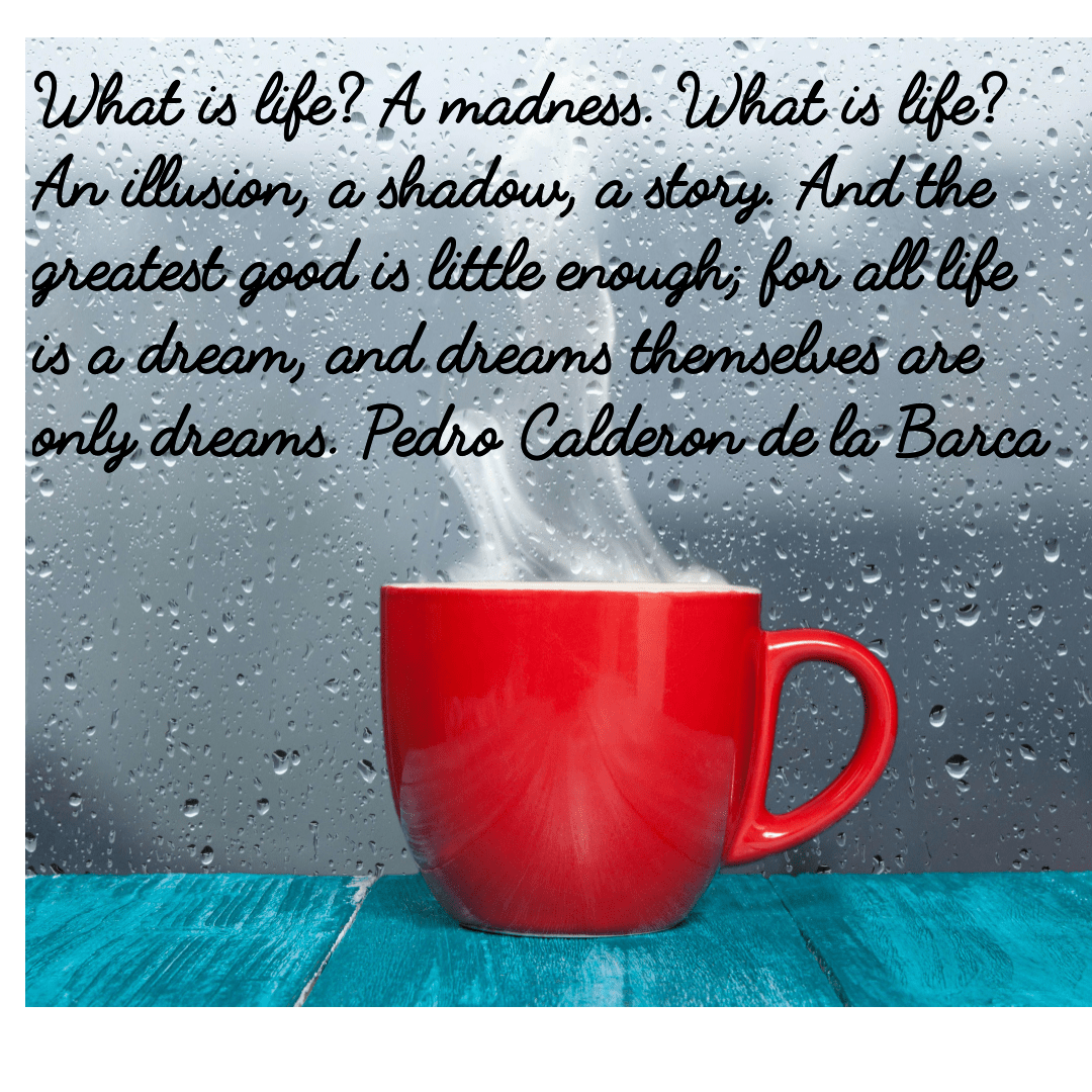 What is life? A madness. What is life? An illusion, a shadow, a story. And the greatest good is little enough; for all life is a dream, and dreams themselves are only dreams. Pedro Calderon de la Barca.(1500×1200)