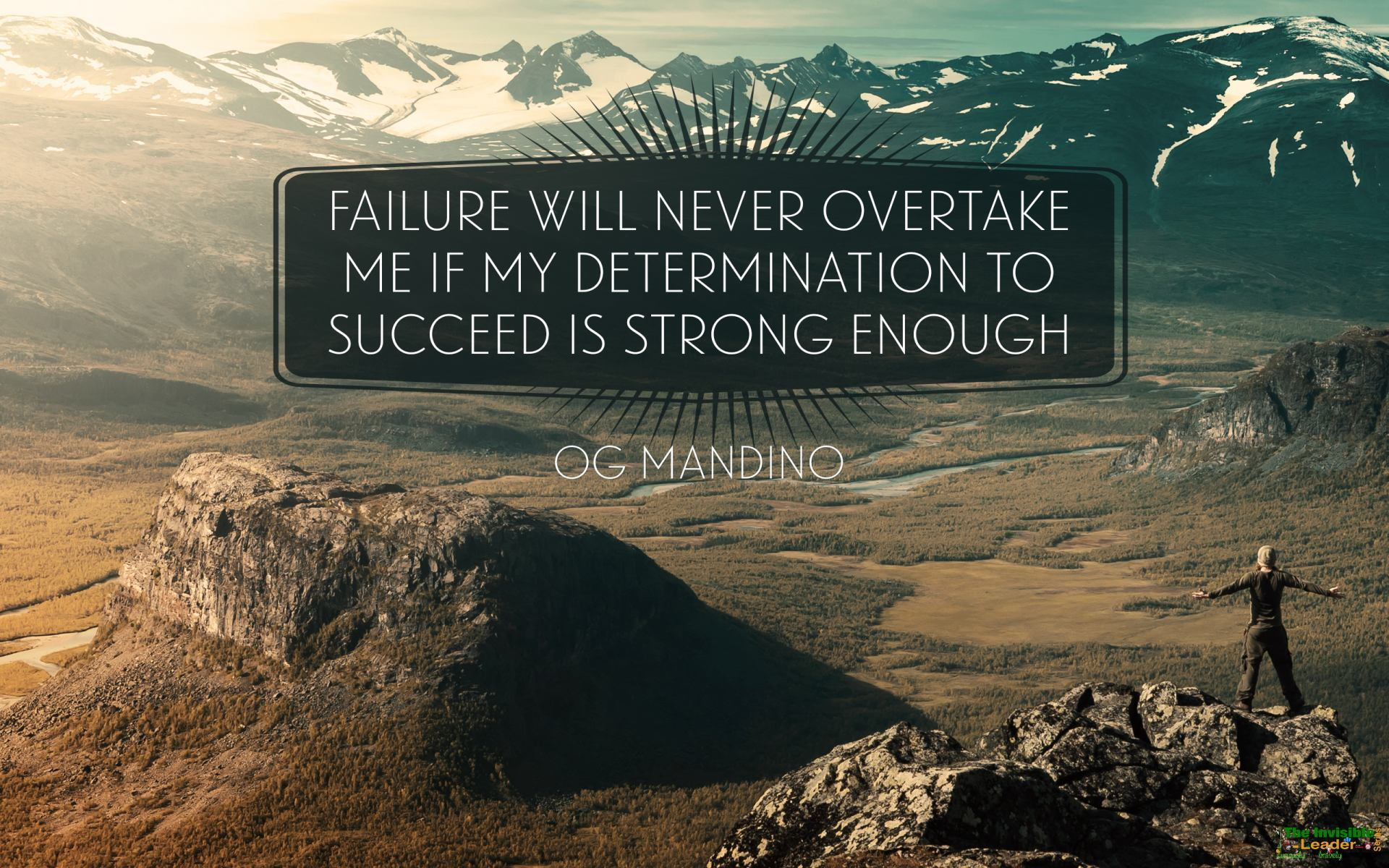 "[Image] ""Failure Will Never Overtake Me If My Determination To Succeed Is Strong Enough"" Og Mandino [1920×1200]"