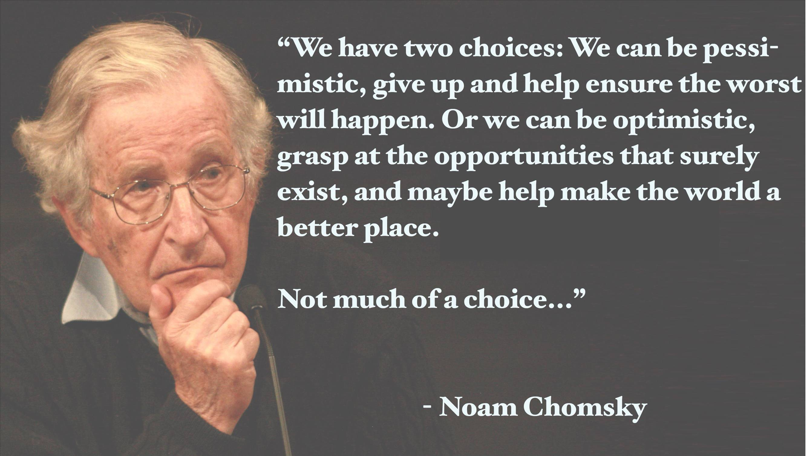 """Not Much Of A Choice"" – Noam Chomsky [3007×1701]"
