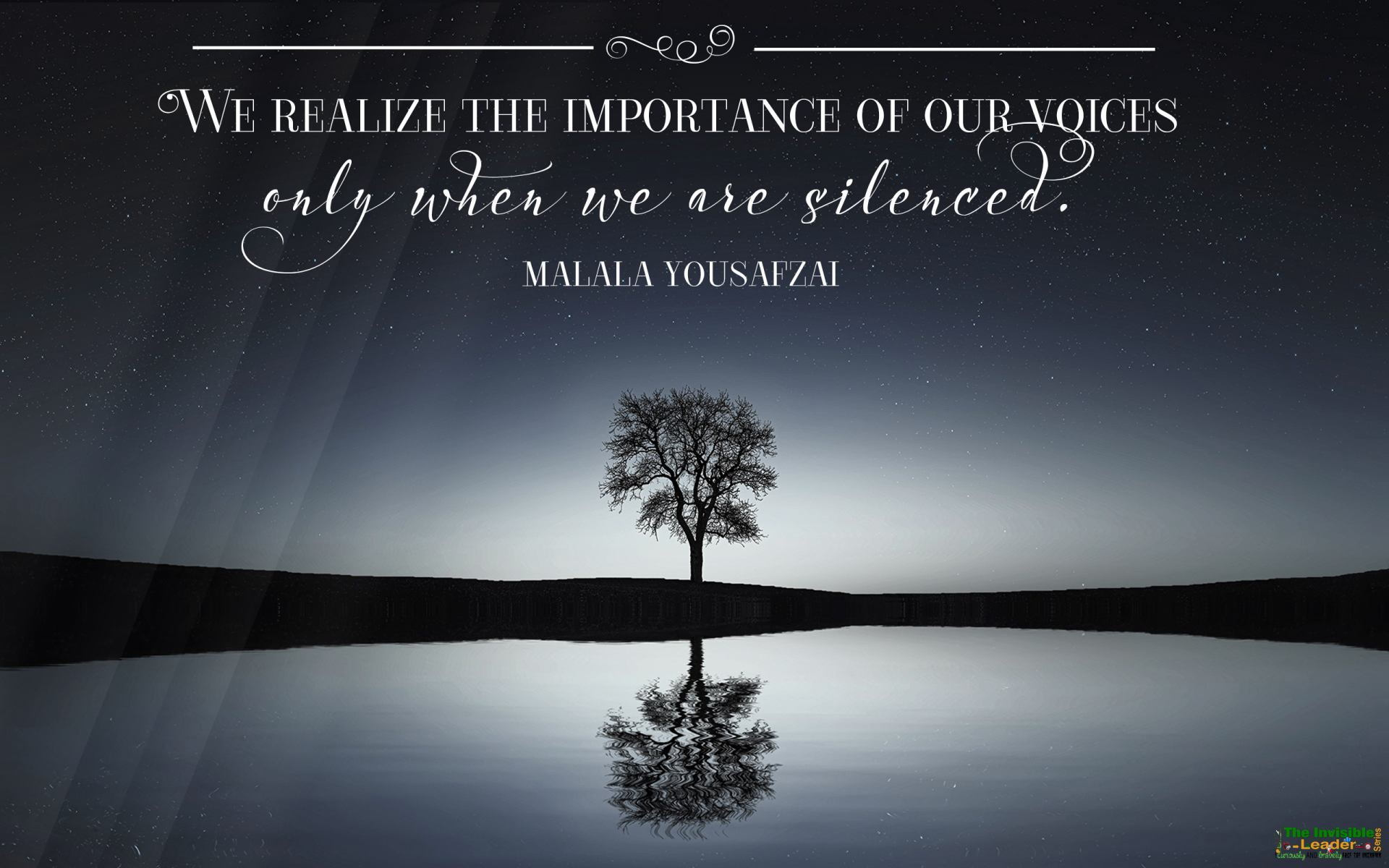 "[Image] ""We realize the importance of our voices only when we are silenced"" Malala Yousafzai! [1920×1200]"