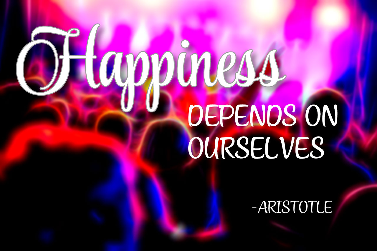 """Happiness depends on ourselves"" – Aristotle [1280×853] [OC]"