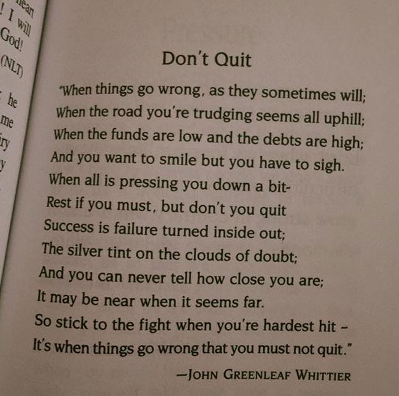 [Image]Don't Quit…
