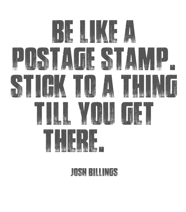 [Image] Be like a postage stamp