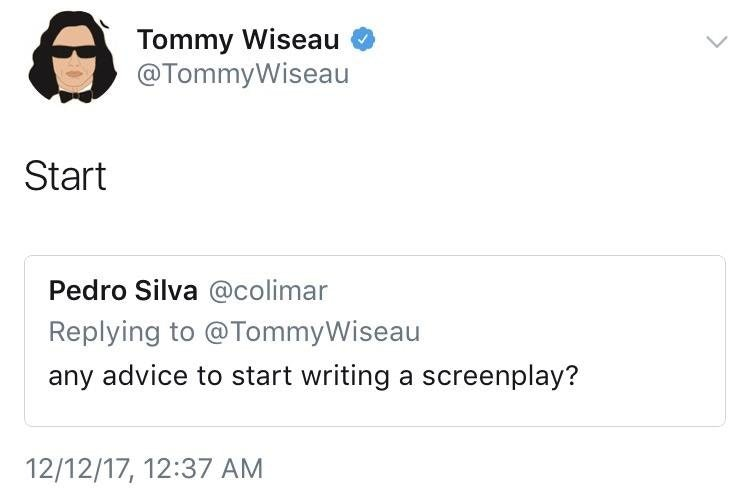 [Image] Clever words from Tommy Wiseau