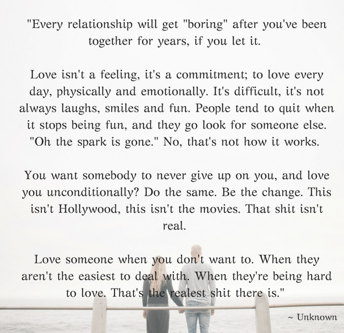 """Every relationship will get 'boring'…"" – Unknown [1114×1080]"