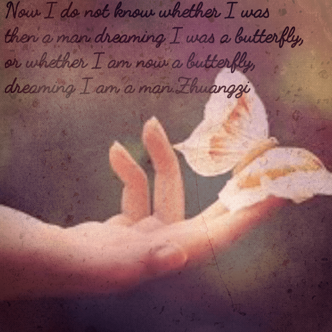 Now I do not know whether I was then a man dreaming I was a butterfly, or whether I am now a butterfly, dreaming I am a man.zhuangzi(1200×1100)