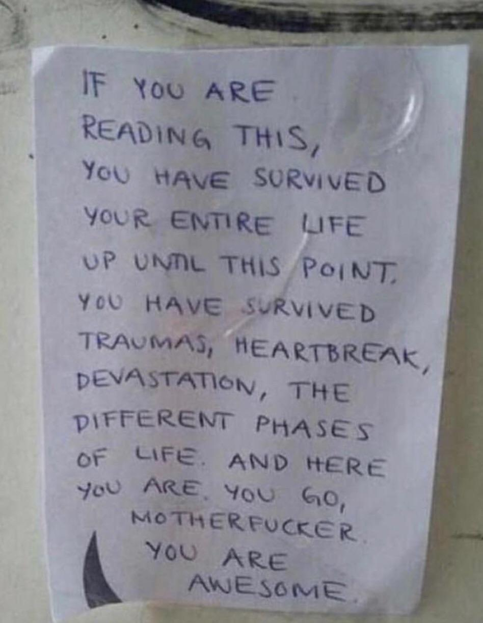 "[image] ""You are awesome"""