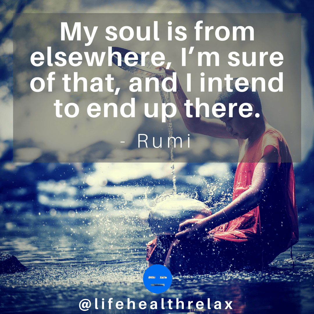 [Image] My soul is from elsewhere, I'm sure of that, and I intend to end up there. – Rumi