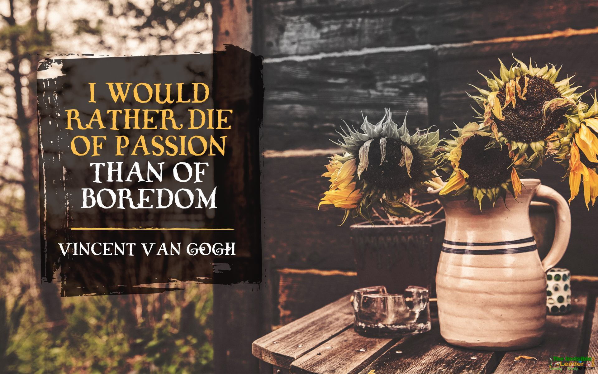 "[Image] ""I would rather die of passion than of boredom"" Vincent Van Gogh! [1920×1200]"