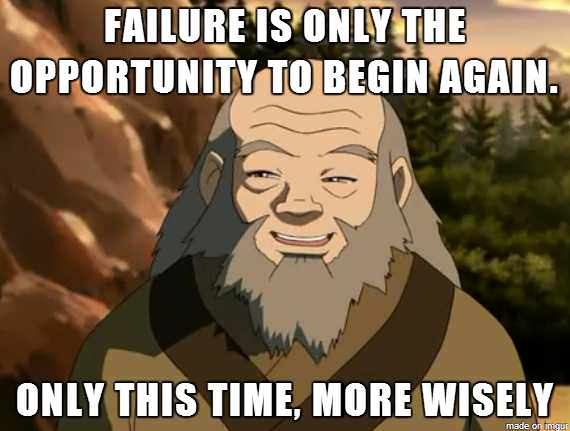 "[IMAGE] ""Failure Is Only the Opportunity to Begin Again"" (238)"