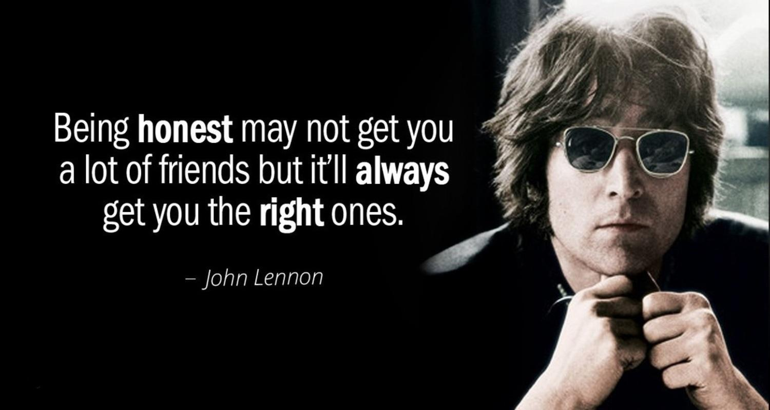 Honesty and friendship – John Lennon [1500×800]