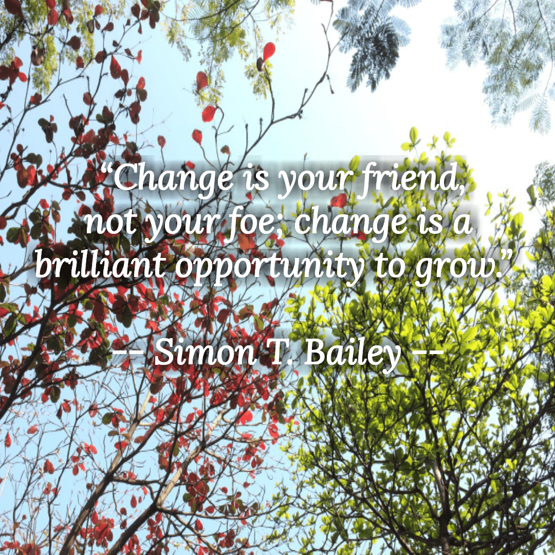 """Change is your friend, not your foe; change is a brilliant opportunity to grow."" – Simon T. Bailey [1080×1080]"