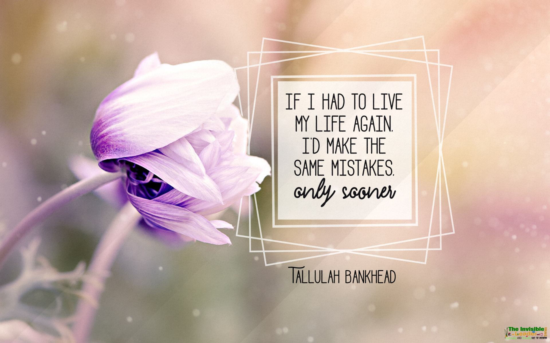 """If I had to live my life again I'd make the same mistakes only sooner"" Tallulah Bankhead! [1920×1200]"