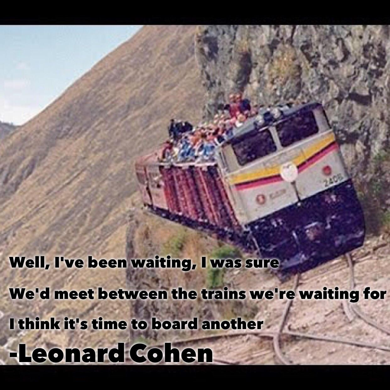 """Well, I've been waiting, I was sure…"" – Leonard Cohen [1242×1242]"