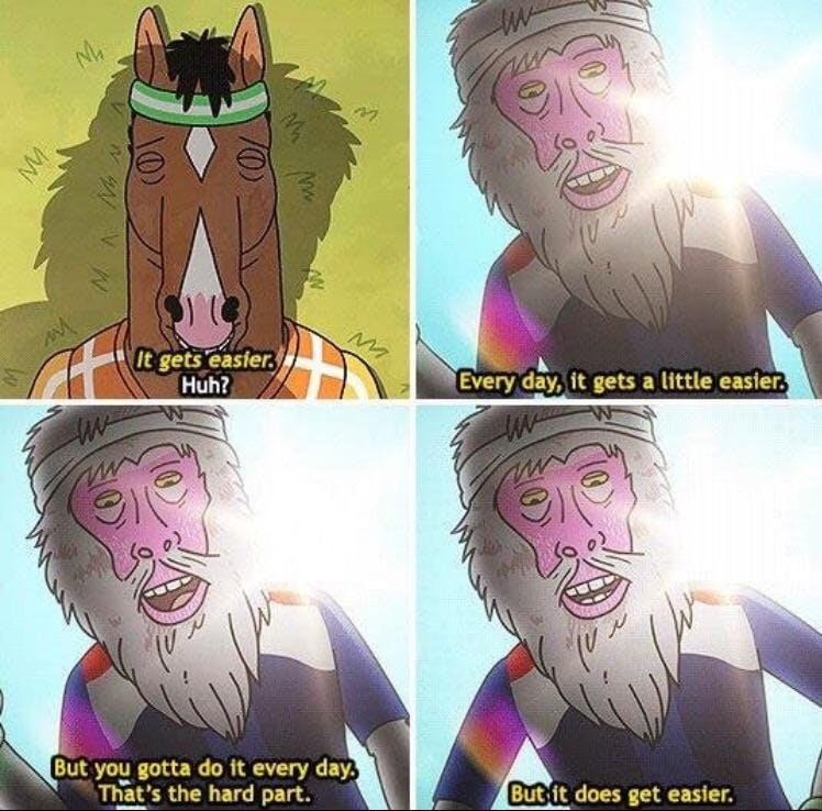 [Image] Motivational quote from bojack horseman