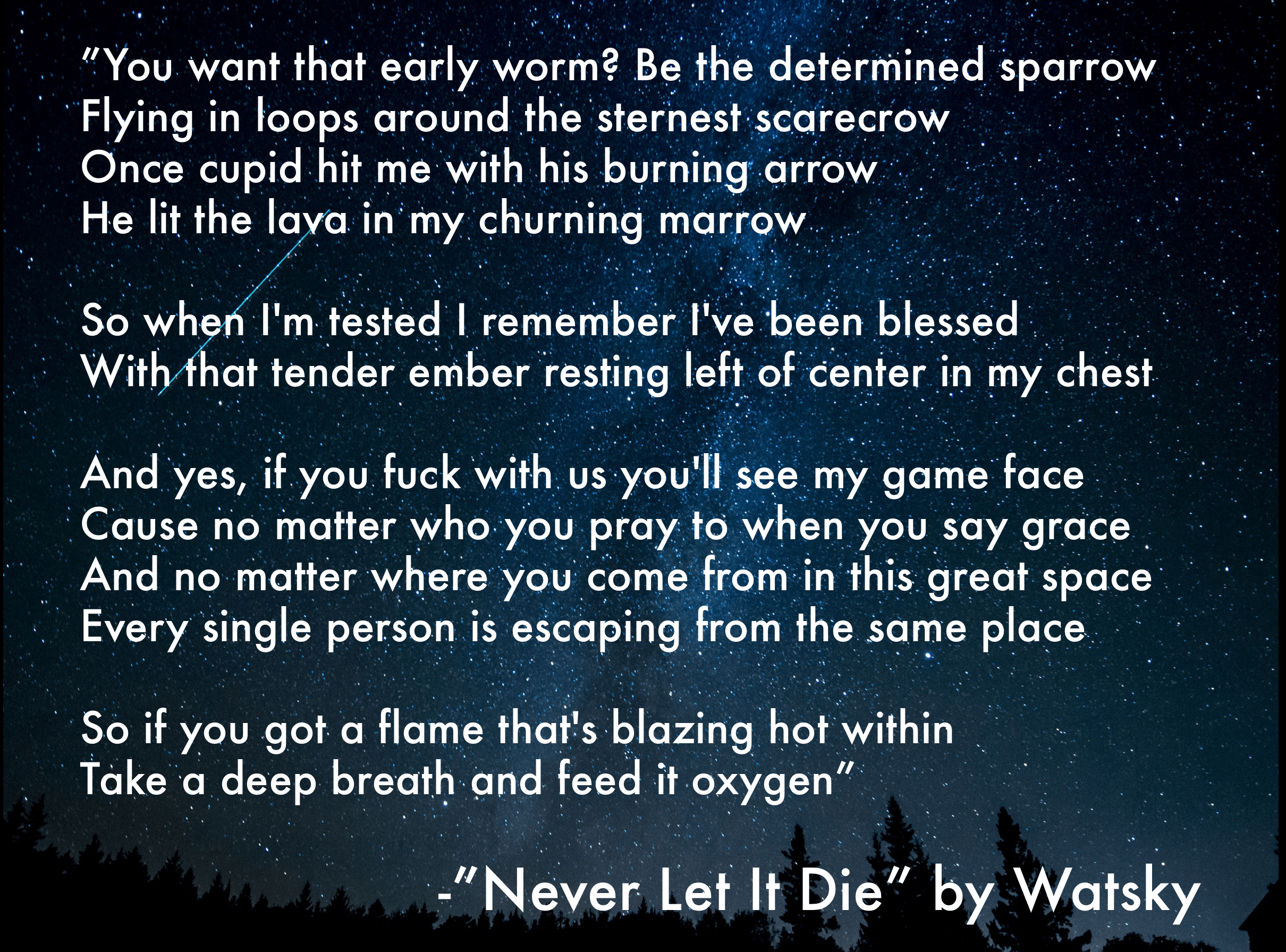 """You want that early worm?…"" -Watsky [2420 × 1792]"
