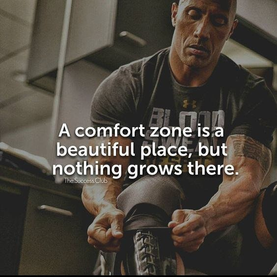 [Image] Nothing grows in a comfort zone