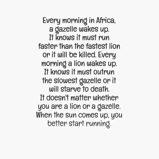 [Image] Wake up and run.