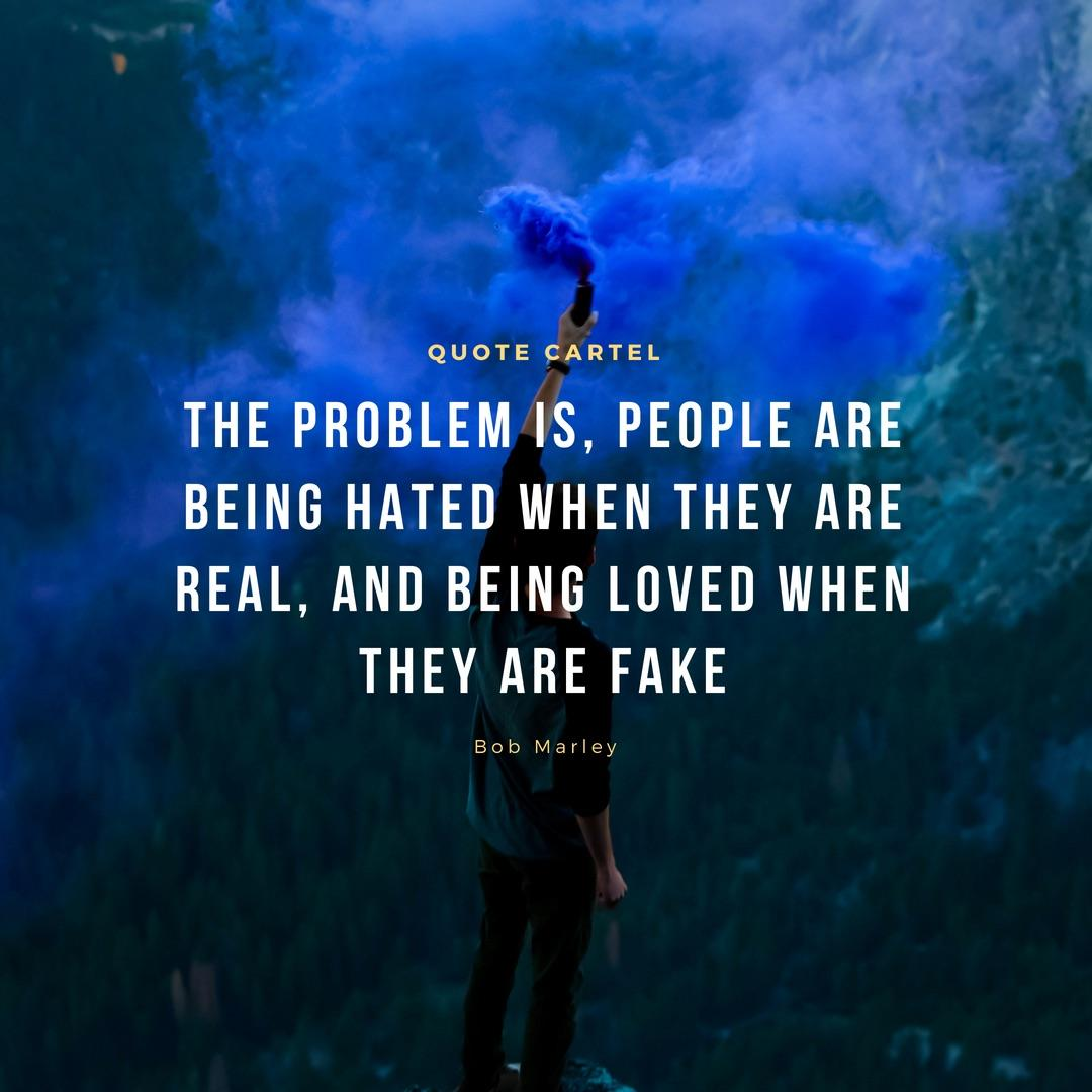 Bob Marley: The problem is people are being…[OC][1080×1080]