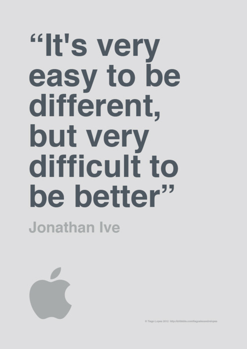 [Image] It's very easy to be different, but very difficult to be better