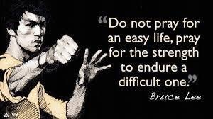 [image] Do not pray for an easy life…