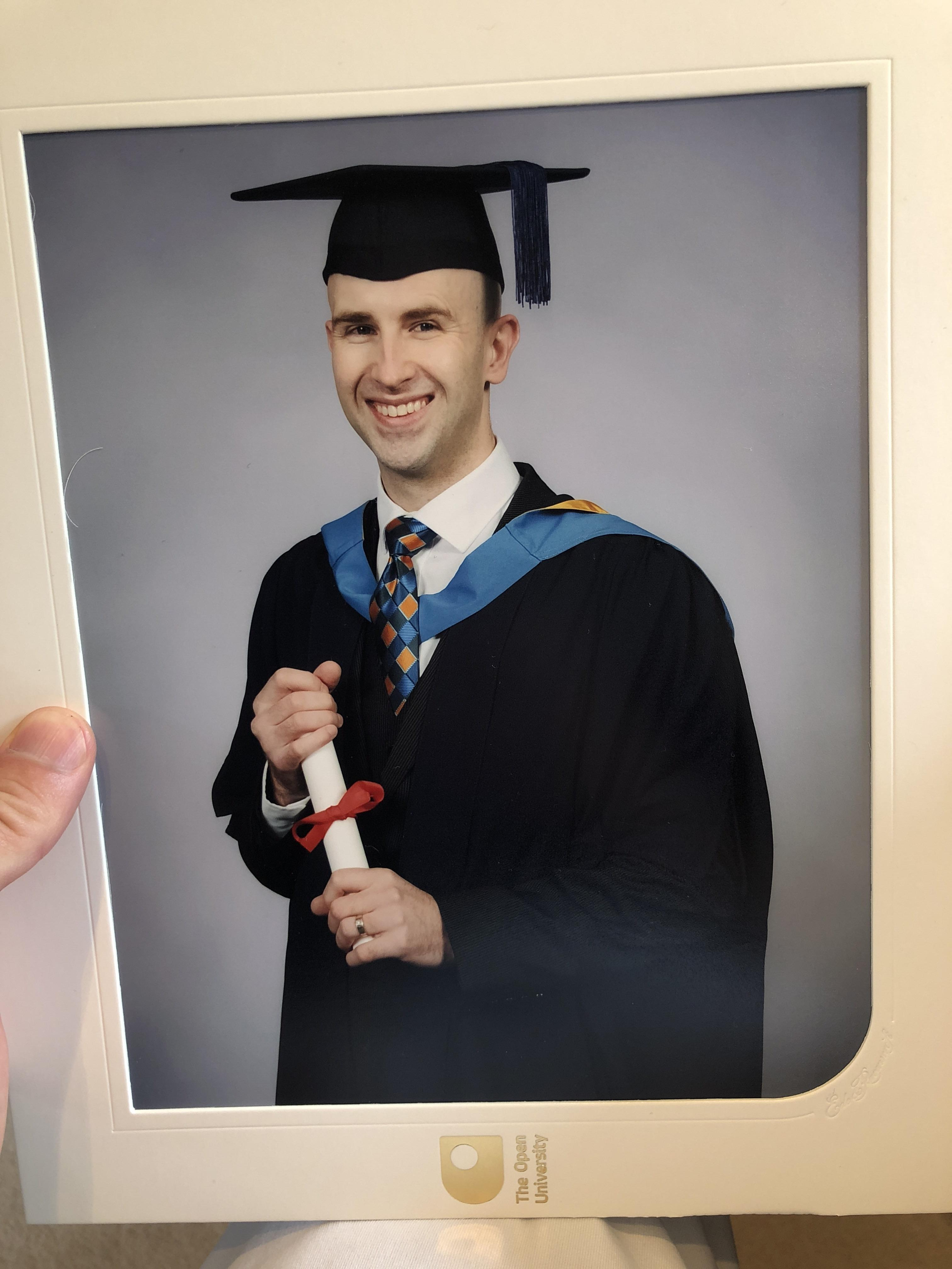 Never too late. At 37, I got my First-Class Law Degree with Open University [image]