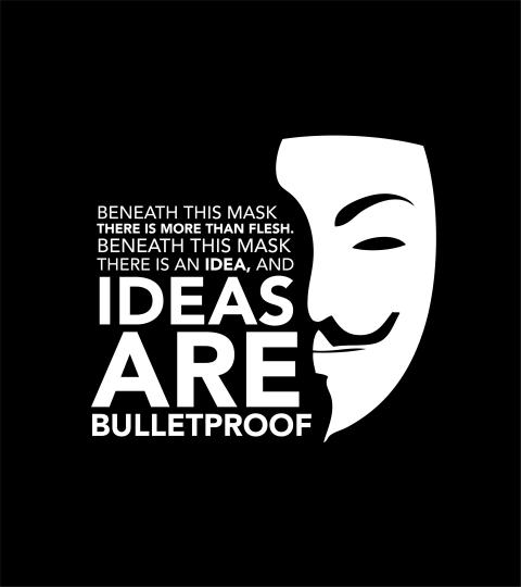 """Behind this mask there is more than just flesh. Beneath this mask there is an idea… and ideas are bulletproof."" ― Alan Moore, V for Vendetta [480×540]"