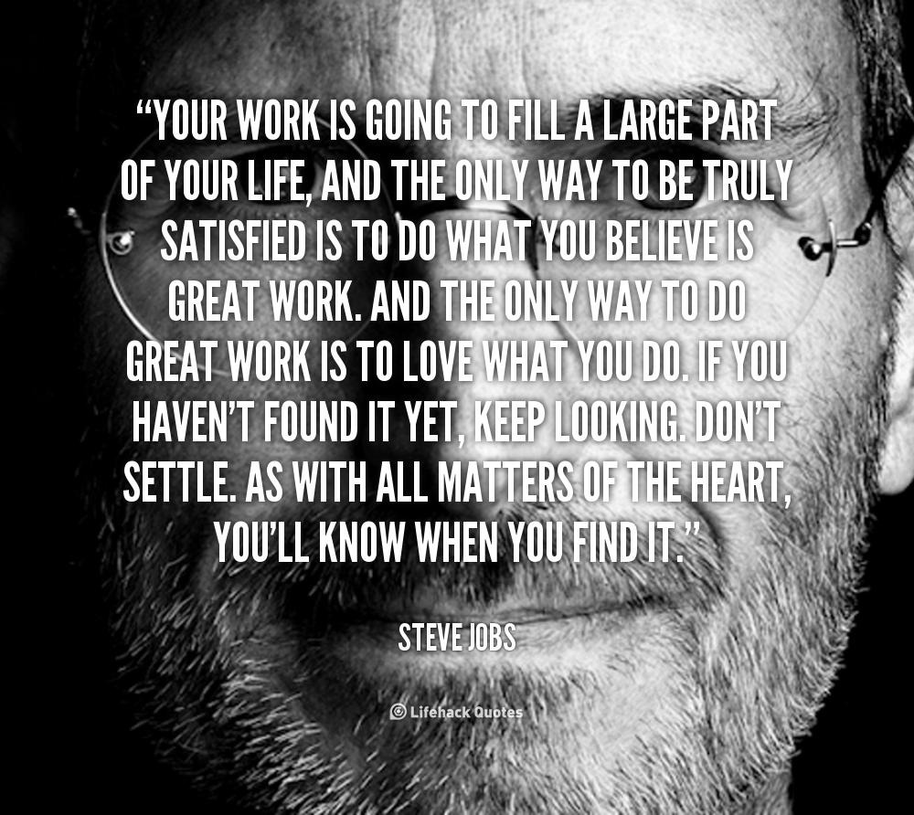 """Your Work Is Going TO……."" -Steve Jobs [1000×892]"