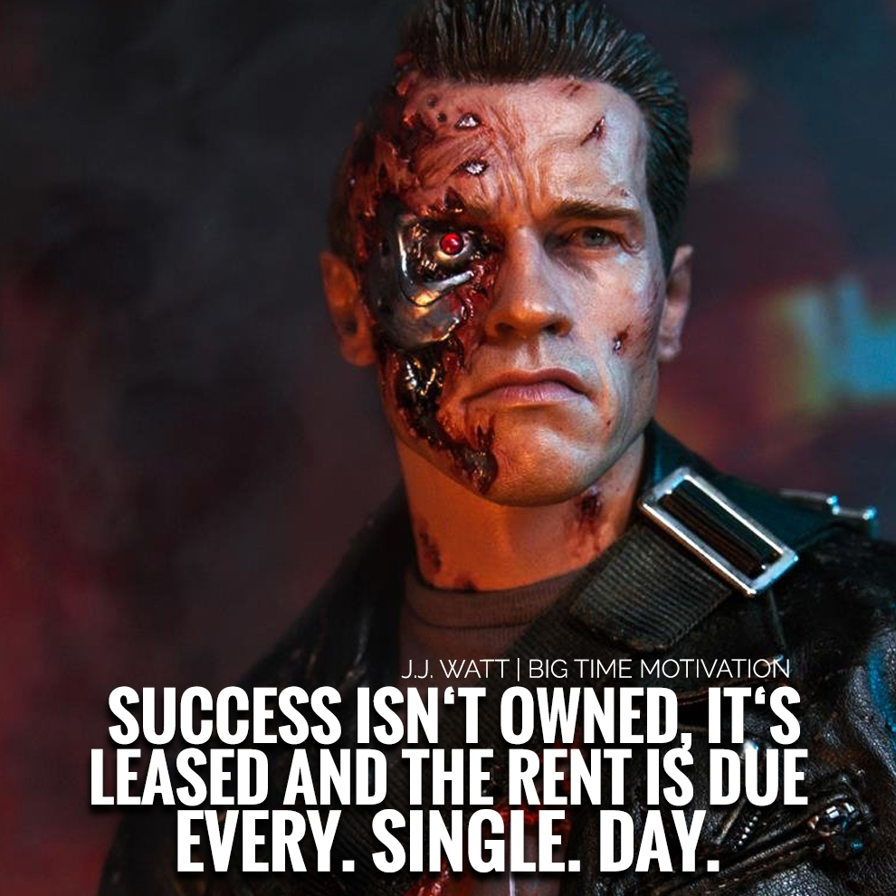 "[OC] ""Success isn't owned, it's leased."" – J.J. Watt [990×990]"
