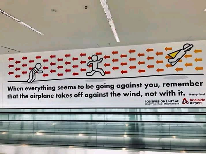 [Image] A good reminder from Adelaide Airport.
