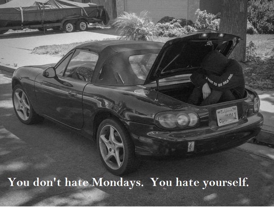 [Image] You Don't Hate Mondays…