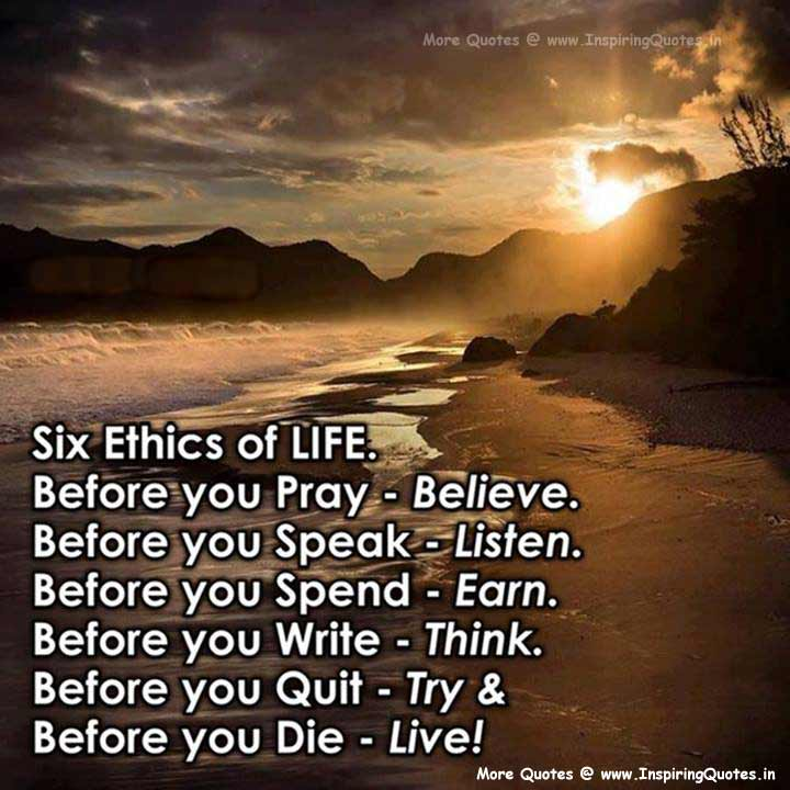 [Image] Six ethics of life