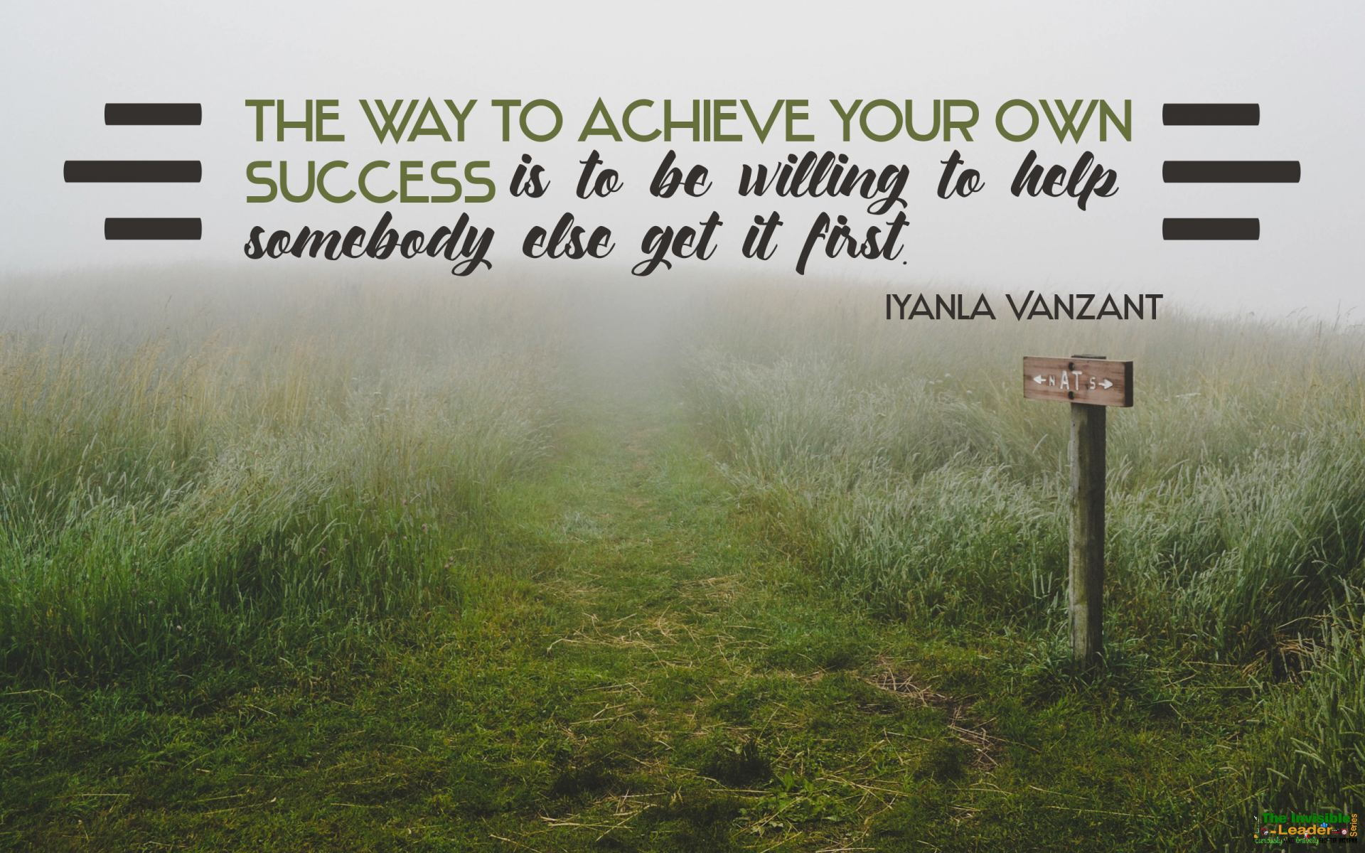 """The way to achieve your own success is to be willing to help somebody else get it first."" Iyanla Vanzant [1920×1200]"
