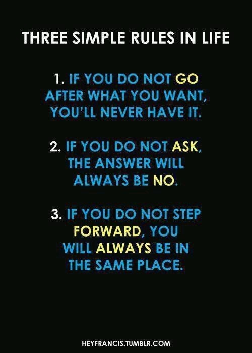 [Image] Three rules in life