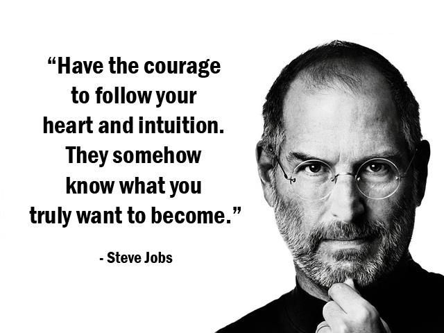 Have the courage to follow your heart and intuition… – Steve Jobs[640 x 480]