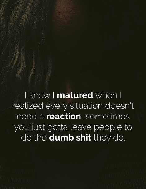 [Image] Every situation doesn't need a reaction