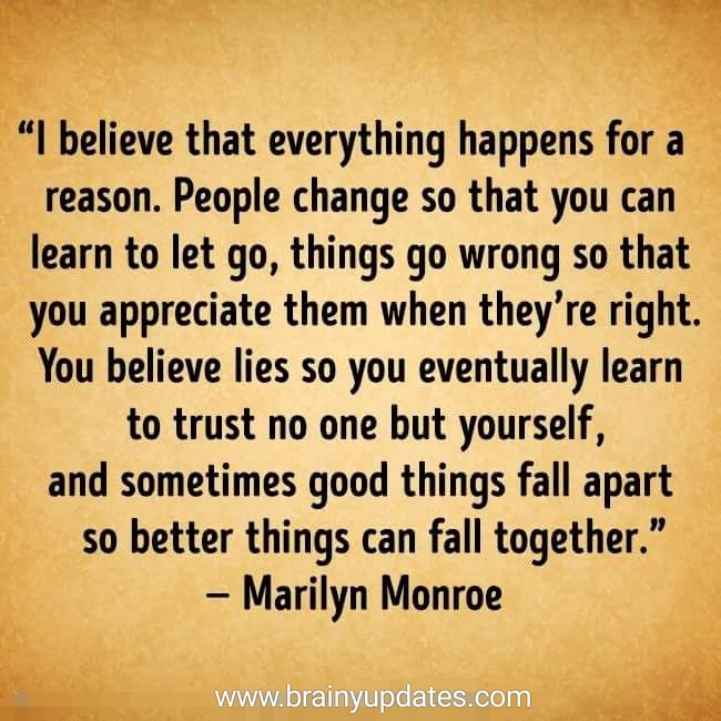 [Image] Everything happens for a reason.
