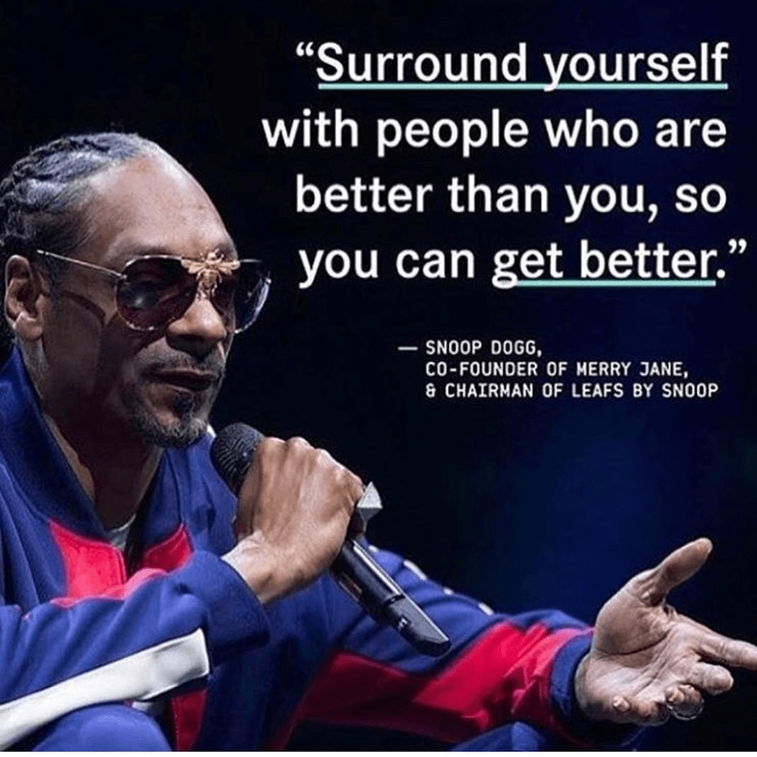 [Image] Snoop Dogg gives life advice.