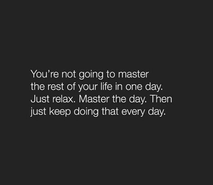 [Image] Master the day