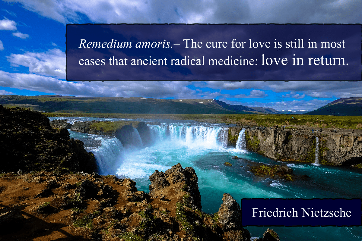 """The cure for love is still in most cases that ancient radical medicine: love in return."" – Friedrich Nietzsche [1200×800]"