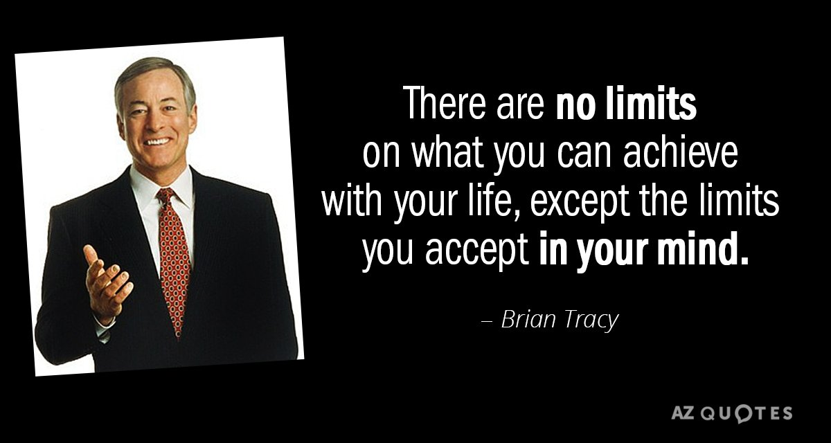 [Image] I was listening to some Brian Tracy the other day, and it made me realize just how many limiting beliefs I still have.