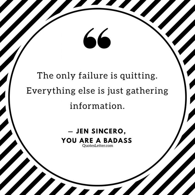 [Image] The only failure is quitting