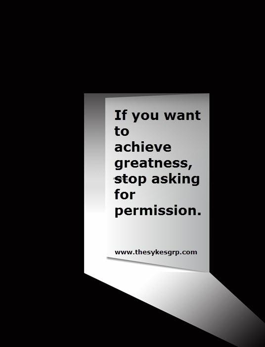 [Image] Stop asking for permission