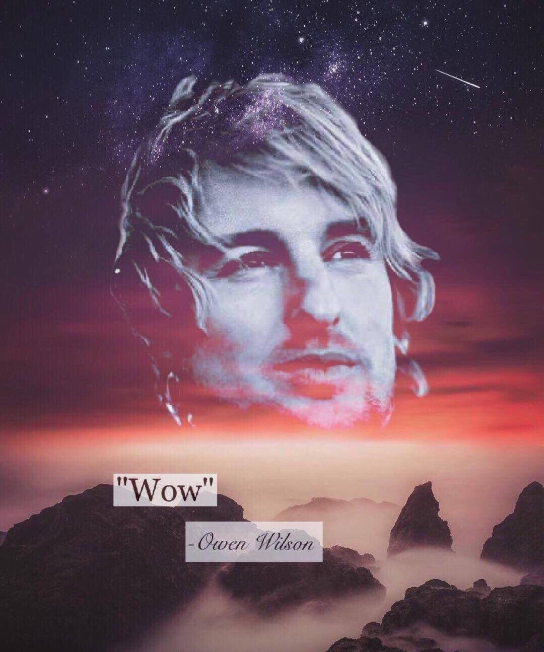 """Wow"" ~Owen Wilson. If this is an inspiring I don't know what is [1080×1295]"