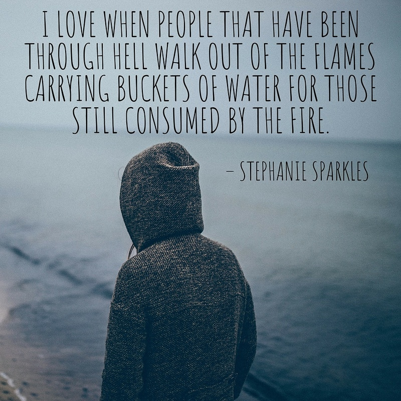 """I love when people that have been through hell….."" Stephanie Sparkles [800×800]"