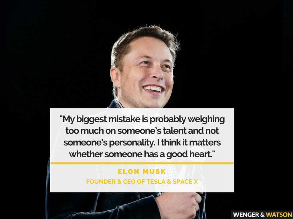 """My biggest mistake is probably weighing too much on someone's talent…"" – Elon Musk [1024×768]"