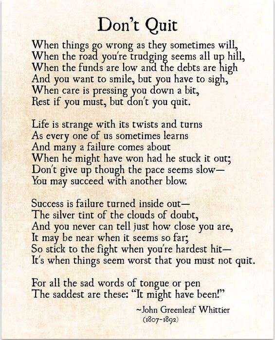 [Image] Don't quit