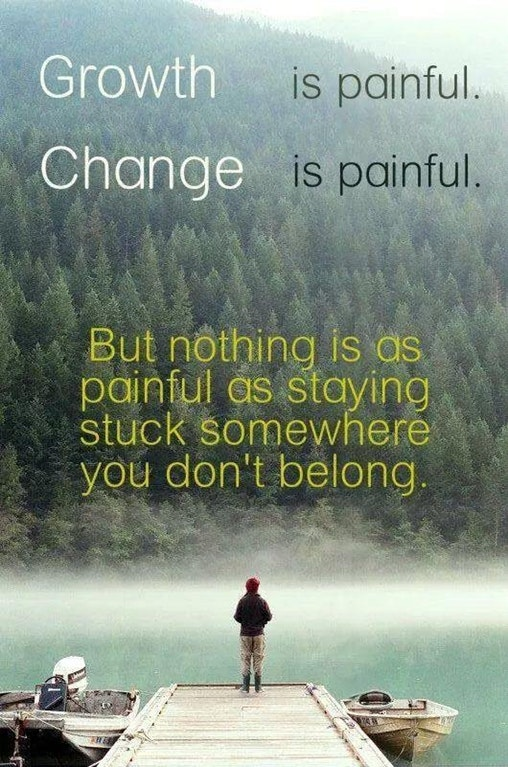 [Image] Growth and change is painful