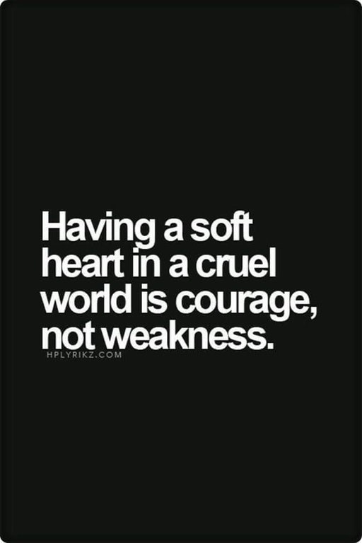 [Image] Having a soft heart