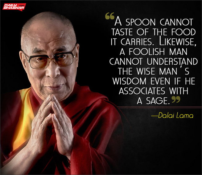[Image] A spoon cannot taste of the food it carries